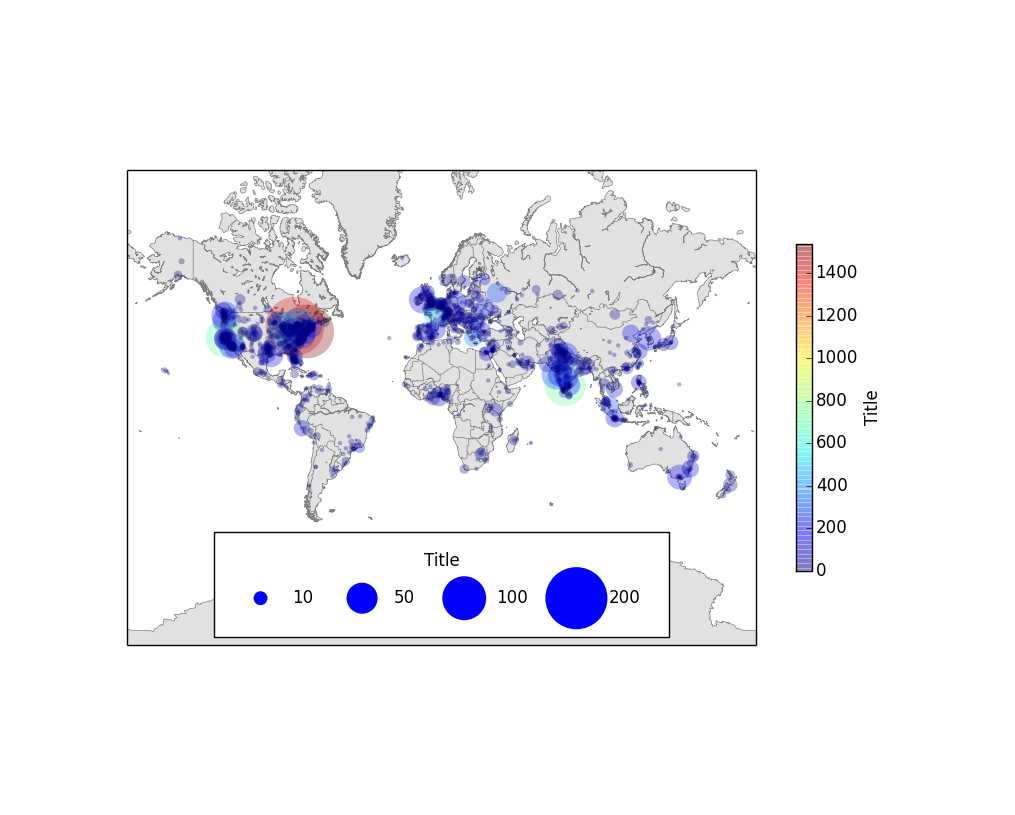 Point size legends in matplotlib and basemap plots