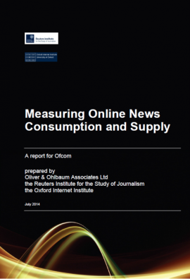 Ofcom - Measuring Online News Consumption and Supply